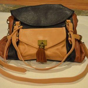 Jessica Simpson Brown & Black Messenger Bag